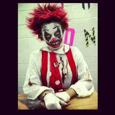 Killer Clown Costume...This was my costume last Halloween and everyone loved it.