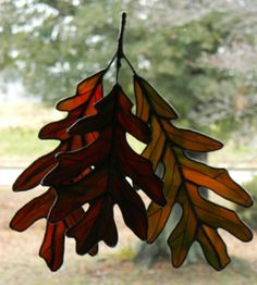 I love leaves and stained glass so this is perfect!