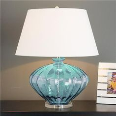 Much prettier in person -  saw it at Exotic Home (Fluted Glass Jug Table Lamp)