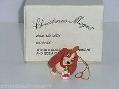 Disney Lady & the Tramp Christmas Tree Ornament Grolier