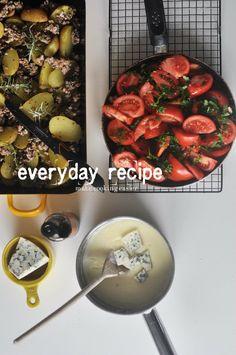 Everyday cooking No. 6 | Make Cooking Easier - warzywa z mięsem mielonym i serem pleśniowym pod beszamelem
