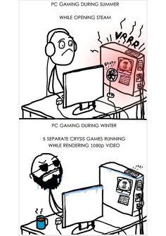 PC Gaming: Summer versus Winter