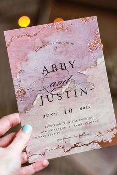 Gilded Shore - Foil Pressed Wedding Invitation Suite by Grace Kreinbrink. Blushing Pink with Rose Gold Foil accents for your big day.