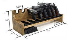 Quality Rotary Gun Racks, quality Pistol Racks - 8 Gun Pistol Rack w/Magazine Storage
