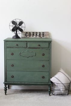 PaintedHomeGoods Old Barn Milk Paint dresser in Moss