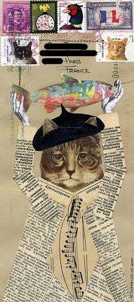 ***For The Love of Cats*** *********Mail Art*********: #2 ... from Bifidus Jones