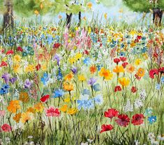 This week at Avon Valley Artists Group, the subject was 'Wild Aspects' There were lots of wild animals depicted by members and a few attemp. Oil Painting Flowers, Watercolor Flowers, Watercolor Paintings, Watercolours, Letter Art Design, Learn Art, Colorful Drawings, Art Floral, Wild Flowers