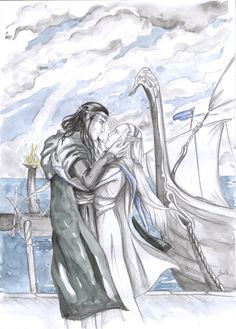Farewell at the Grey Havens: Elrond and Celebrían - Anna K. This one is so sad