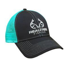 dcd7b1403d8d7 Custom Realtree Metallic Fishing Logo Mesh Back Hat