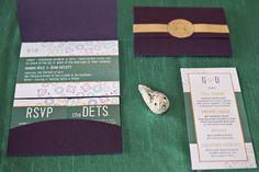 Jewel-Themed Glam Wedding Invitation Set by Milk & Ice Cream
