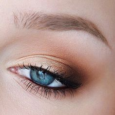 i would add more light brown beneath the eye too--and line only the outter third