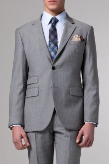 The Essential Gray Herringbone Suit