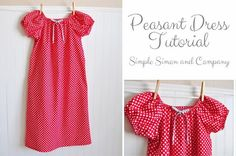 A Christmas Tradition and a Peasant Dress Tutorial - Simple Simon and Company Peasant Dress Patterns, Nightgown Pattern, Peasant Blouse, Skirt Patterns, Coat Patterns, Blouse Dress, Peasant Dress Tutorials, Blouse Patterns, Sewing Patterns