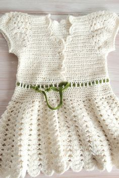 white crochet baby boho dress