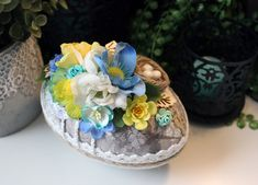 Midsummer Egg Påskägg Godisägg Påsk Jewelry Crafts, Cardmaking, Egg, Jewelry Making, Scrapbooking, Paper Crafts, Projects, Cards, How To Make