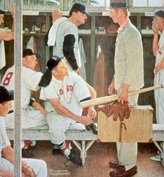 """New Player"" by Norman Rockwell, ・ Style: Regionalism ・ Genre: genre painting"