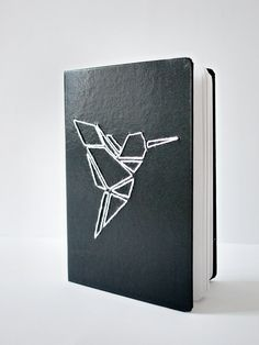 Embroidered Origami Hardcover Notebook by Shop-LanaRedStudio