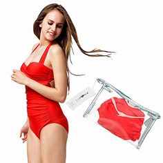 Tidetell Halter 50s Retro One Piece Bathing Suit Swimsuit Swimwear *** Want additional info? Click on the image.