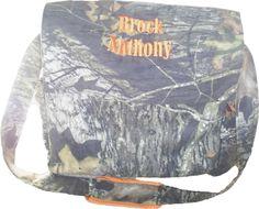 Camo & Orange Diaper Bag. $75.00, via Etsy.