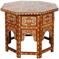 Anglo India mother of pearl inlay table.jpg
