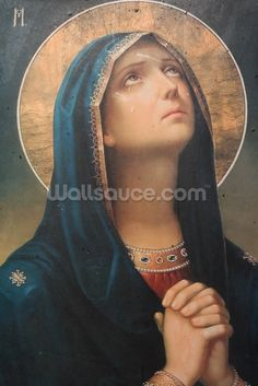 Antique religious icon wall mural