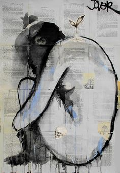 "Saatchi Online Artist: Loui Jover; Pen and Ink, 2013, Drawing ""life death and discontent"""