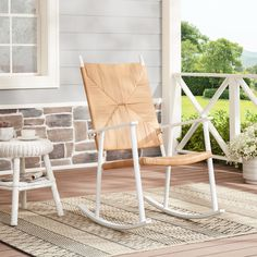 Free 2-day shipping. Buy Better Homes & Gardens Ventura Rush Weave Outdoor Rocking Chair, White at Walmart.com Adirondack Rocking Chair, Wicker Rocking Chair, Outdoor Rocking Chairs, Front Porch Chairs, Cozy Backyard, Backyard Ideas, Large Chair, Decks And Porches, Better Homes And Gardens