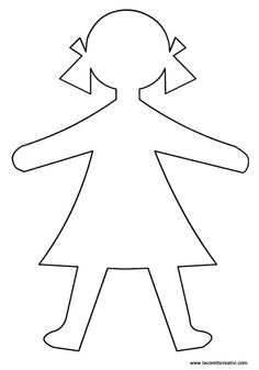 outline of a girl template koni polycode co