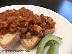 Cuban Inspired Lentils Over Toast - #glutenfree #vegan - Vegetarian Mamma