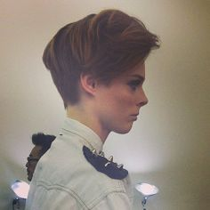 We spotted Coco Rocha's pixie cut up close backstage at Victoria Beckham.