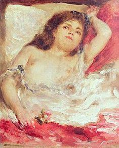 Pierre-Auguste Renoir - Semi-Nude Woman in Bed