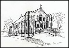 St. George's Catholic Church, Ottawa by Ross Dunn, via Flickr  Actual sketch by S. Mask Connolly (Mom)