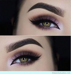 45 Purple Eye Makeup Looks for Green Eyes for a New Years Party #glammakeuplooks