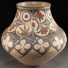 American Indian Art:Pottery, A SANTA CLARA POLYCHROME JAR. Lois Gutierrez. c. 1985...