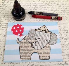 Handmade postcard - master class