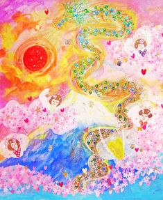 ★**☆Angelic Miracle Energy ~*Angeland*~ by Ere*Maria & many Angels' love★**☆ Angel S, Fine Art, Gallery, Painting, Roof Rack, Painting Art, Paintings, Visual Arts, Painted Canvas