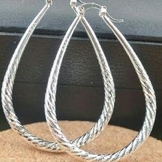 New 925 Sterling Silver Earrings Fashion Hoop Earrings Jewelry Earrings