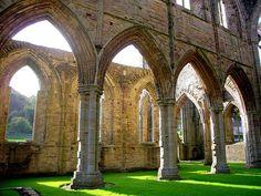 Tintern Abbey by flash of light, via Flickr