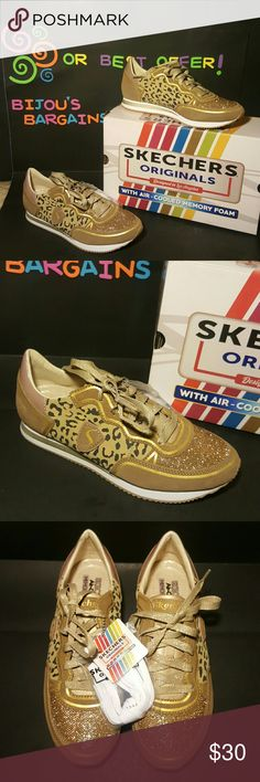 Skechers Originals Leopard Love Sneaker Sz 9 *NEW* Leather/Suede - Cute Style -  Air Cooled Memory Foam - Sz 9 - Runs a bit large Skechers Shoes Sneakers