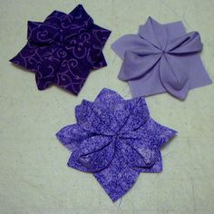 Fabric Origami Quilt Block - on it's own or something similar for the centre of a dresden circle.