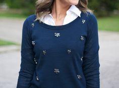 Jeweled Sweatshirt | Love Lucy Girl