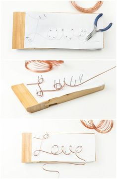 A good guide how to make a Cake Topper made of wire in the trend color copper in just a few steps. Anleitung: DIY Cake Topper aus Draht in Kupfer selbermachen Diy Cake Topper, Diy Wedding Cake Topper, Vintage Cake Toppers, Diy Décoration, Sell Diy, Wire Jewelry, Jewelry Crafts, Wire Wrapping, Diy And Crafts