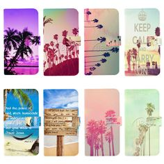 Pink Tropical Palm Tree Wallet Flip PU Leather Case For iPhone4 4s 5 5s 5c 6Plus #UnbrandedGeneric
