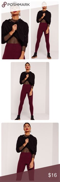 High Waisted Fleece Leggings Burgundy High Waisted Leggings! These are the best as they provide awesome tummy control and are very soft! These are fleece lined for extra warmth! Pants Leggings
