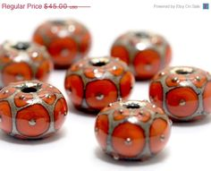 ON SALE 25 OFF Handmade Glass Lampwork Bead Sets by gracebeads, $33.75