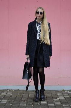 Get this look: http://lb.nu/look/7907014  More looks by Lisa: http://lb.nu/lisa03  Items in this look:  Skirt, Sunglass, Zara Coat   #chic #street