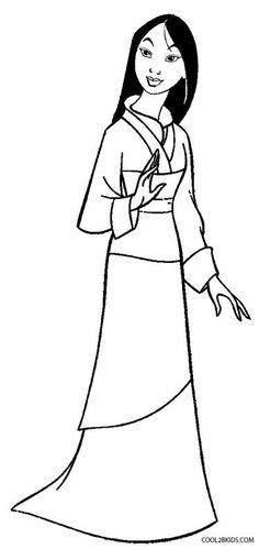 mulan printable coloring pages - mulan disney princess coloring page to print out disney