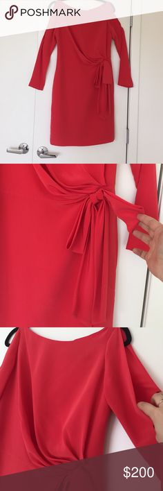 Designer open shoulder red bow waist dress 2 S Bought this dress in boutique it says brand YUNA.  Size says M fits more like S. Open shoulder with bow featured around the waist line. Very beautiful dress unfortunately i dont fit into it anymore otherwise would have kept it. Worn once.  🙅🏻 PLEASE DO NOT ASK LOWEST PRICE 🙅🏻 ------------ Instead ---------------- ✅ USE OFFER BUTTON ✅ --------😐 no low balling please😐-------- 💁🏻 NO DRAMA HERE LETS BE NICE 🤗 🚫🚭 SMOKE FREE - PET FREE HOME…