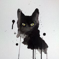 black cat paintings prints - Google Search
