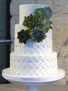 Succulent Cake via Wedding Wire // Coco Paloma Desserts, Austin TX